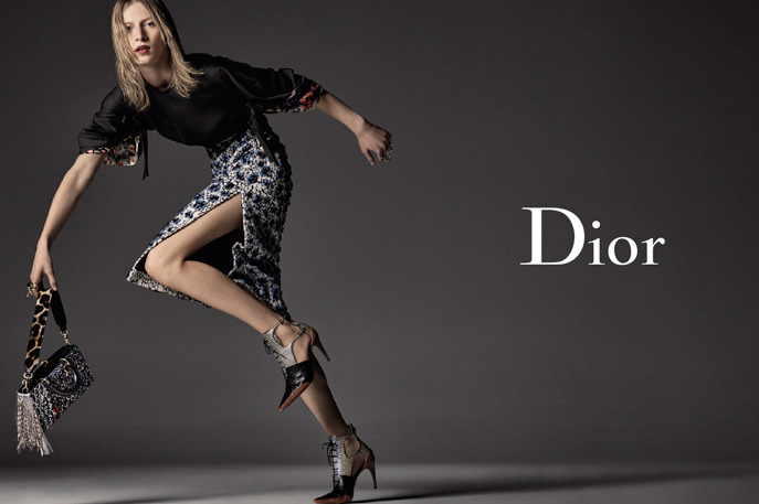 Julia Nobis for Christian Dior Fall:Winter 2016.17 adv campaign by Steven Meisel 1